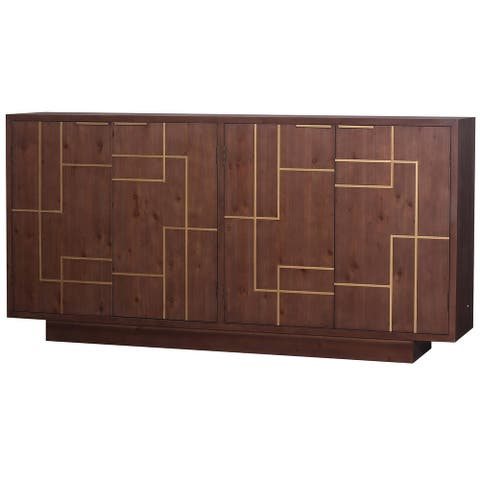 Harp & Finial Hanover Brown with Gold Accents Sideboard