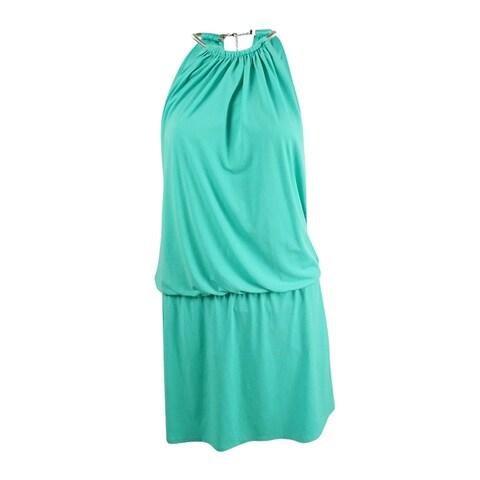 Jessica Simpson Women's Halter Jersey Blouson Dress