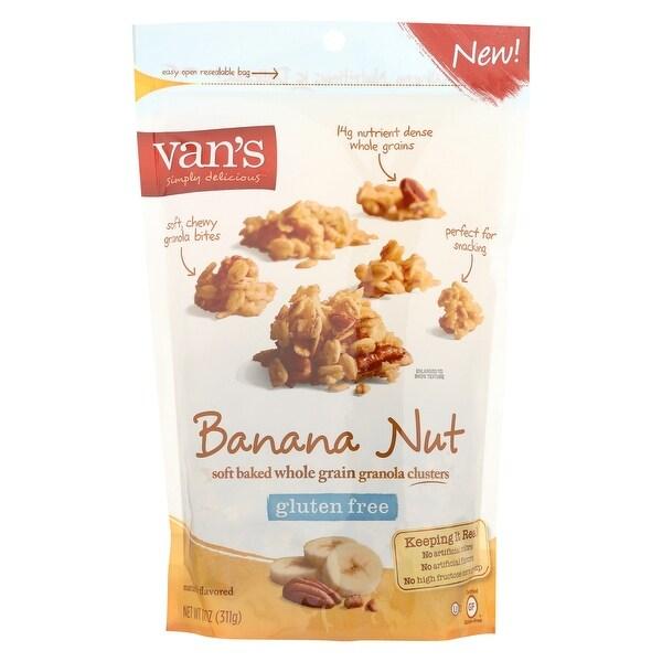 Van's Natural Foods Gluten Free Granola - Banana Nut - Case of 6 - 11 oz.