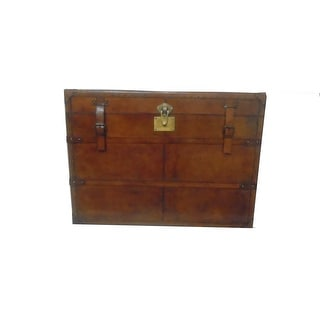 Leather Rectangular Side Trunk For Storage