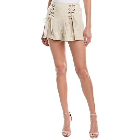 Bcbgeneration Corset Linen-Blend Short