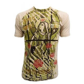 Konflic Men's Virgin Mary Stained Window Graphic Designer MMA T Shirt