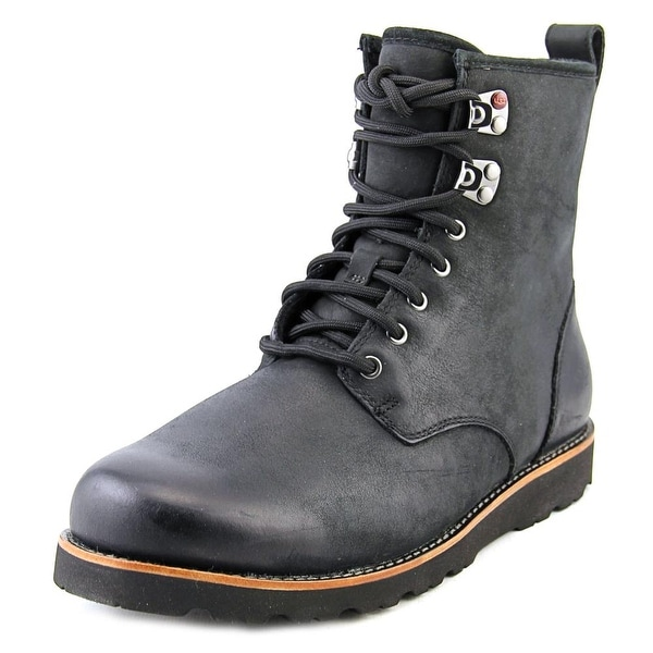 Ugg Australia Hannen TL Men Round Toe Leather Black Boot