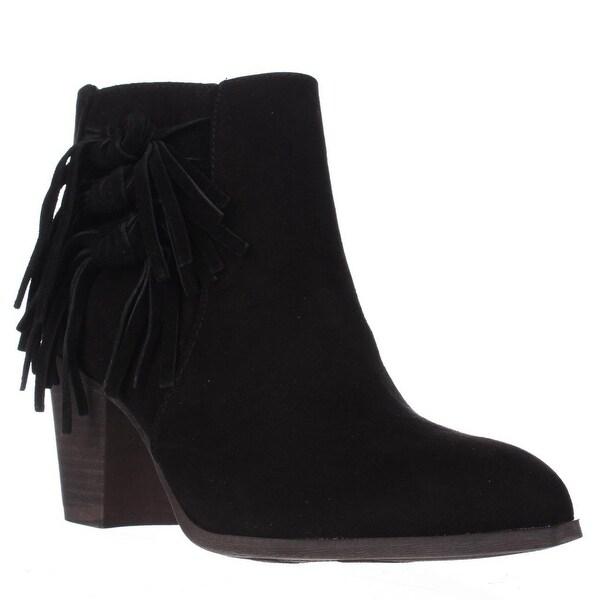 Fergalicious Clover Tied Tassel Ankle Boots, Black