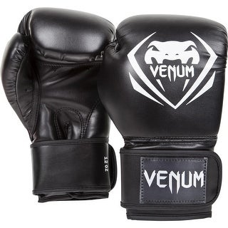 Venum Synthetic Leather Contender Boxing Gloves - Black