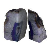 Large Polished Purple Brazilian Agate Geode Bookends 7-11 Pounds