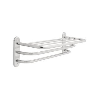 "Franklin Brass 2783 24"" Exposed Mount Towel Shelf with Two Bars - n/a"