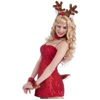 Sexy Reindeer Kit Adult Costume Accessory Set