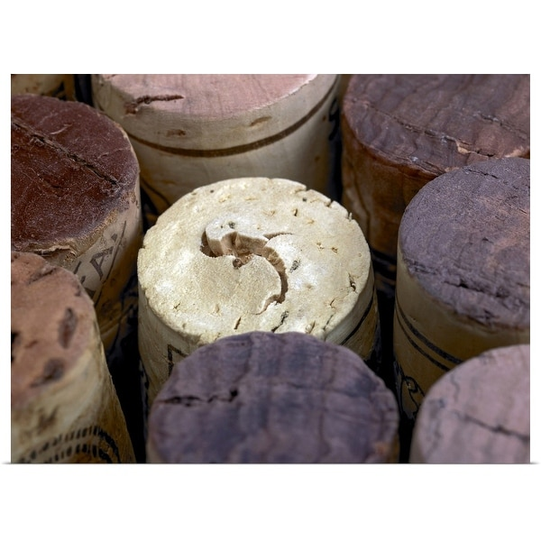 """Assortment of used corks,"" Poster Print"