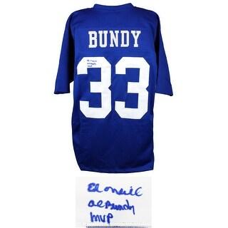Ed ONeill Al Bundy 33 Polk High Blue Football Jersey WAl Bundy MVP