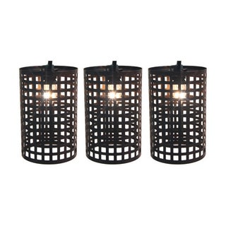 Living Accents 61AGV112 Clear Large Metal Lantern Light Set, 7.5 ft. Long