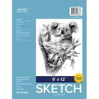 "Artist Select Advantage Sketch Pad 9""X12""-30 Sheets"