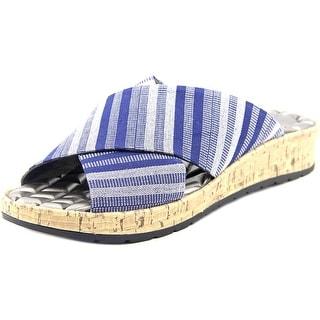 Life Stride Positive Women W Open Toe Leather Blue Slides Sandal