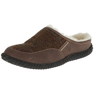 Acorn Mens Rambler Mule Slippers Faux Fur Lined Indoor/Outdoor