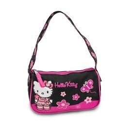 Hello Kitty Black and Pink Hobo Handbag Purse