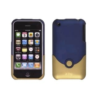 ifrogz - Luxe Velvet Case for iPhone 3G & 3GS Cell Phones - Navy / Gold