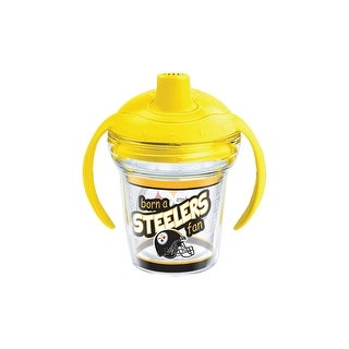 NFL Pittsburgh Steelers Born A Fan 6 oz Sippy Cup with lid