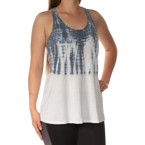 1933a7a83aea Shop TOMMY HILFIGER Womens Navy Racerback Printed Sleeveless Scoop Neck Top  Size  M - On Sale - Free Shipping On Orders Over  45 - Overstock.com -  23451693