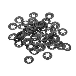Internal Tooth Lock Washers Push-On Locking Speed Clip 65Mn Black Oxide Finish 60pcs 14mm O.D uxcell M5 Starlock Washer 4.5mm I.D