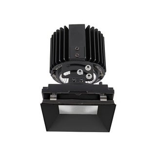 """WAC Lighting R4SAL-F Volta 4.5"""" Square Invisible Adjustable Trim with LED Light Engine and 45 Degree Flood Beam Spread"""