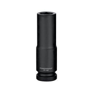 "Powerbuilt 1/2"" Drive 6 Pt. Metric Deep Impact Socket 13mm - 647182 - Green/Black"