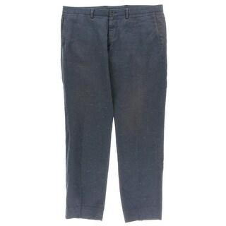 BOSS Hugo Boss Mens Dress Pants Linen Blend Printed - 34
