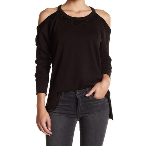Joe's Deep Womens Medium Pullover Cold-Shoulder Sweater