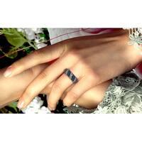 Prism Jewel 1/2 Carat Brown Color Diamond and Diamond Effect Half Eternity Ring