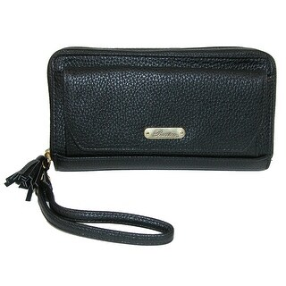 Buxton Women's RFID Zip-Around Tech Wallet with Power Bank - One size (3 options available)