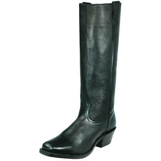 Boulet Western Boots Men Cowboy Leather Topy Shooter Sporty Black