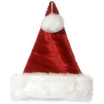 """Burgundy/White - Plush Santa Hat 13""""X17"""""""