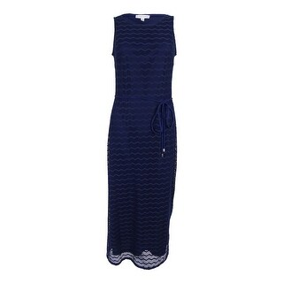 Sandra Darren Women's Sleeveless Crocheted Maxi Dress
