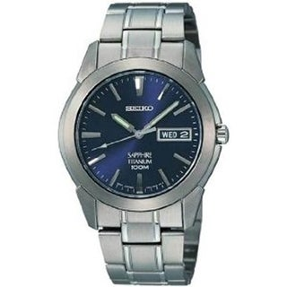 Seiko Men's Blue Titanium Quartz Dress Watch