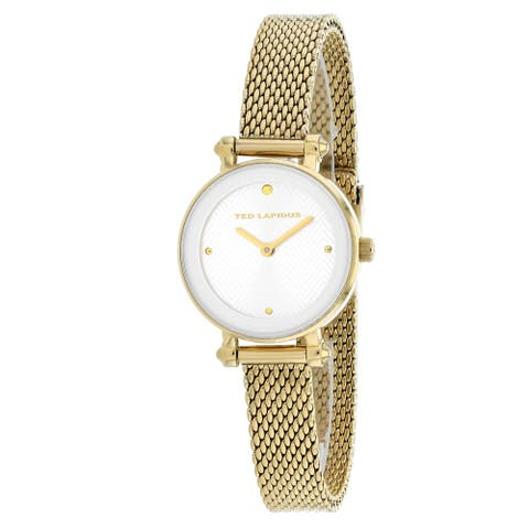 Ted Lapidus Women's Classic A0680PBPXX Silver Dial watch