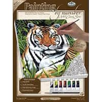 "Tiger In Hiding - Paint By Number Kit Artist Canvas Series 9""X12"""