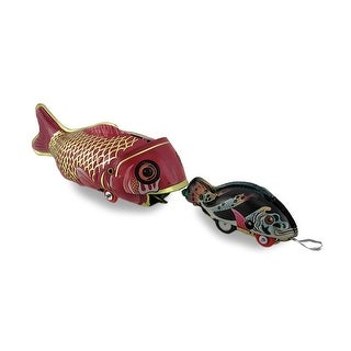 Whale Eating Fish Vintage Style Decorative Mechanical Tin Toy
