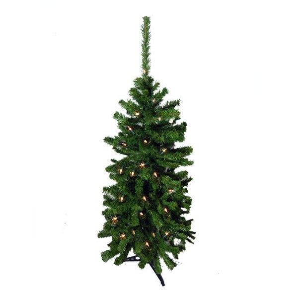 4.5' Pre-Lit Artificial Christmas Tree - Clear Lights