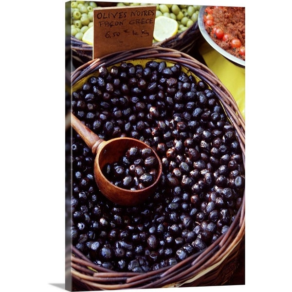"""""""Greek olives for sale"""" Canvas Wall Art"""