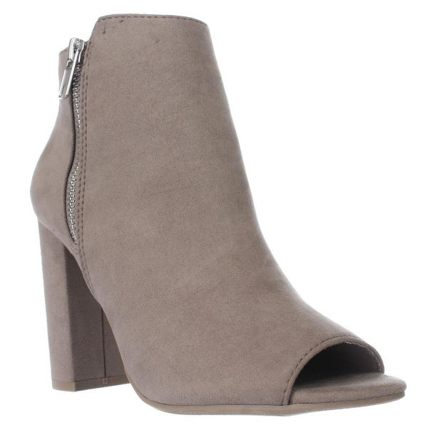 MG35 Carena Peep Toe Double Zip Ankle Boots, Taupe