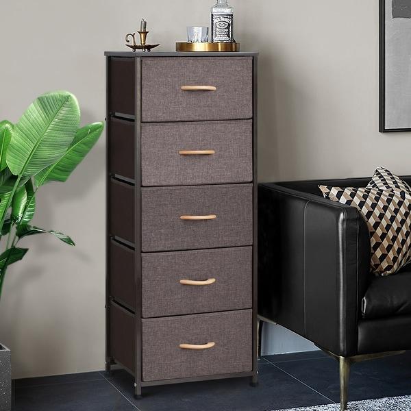 Crestlive Products Household 5-Drawer Vertical Dresser Storage Chest. Opens flyout.