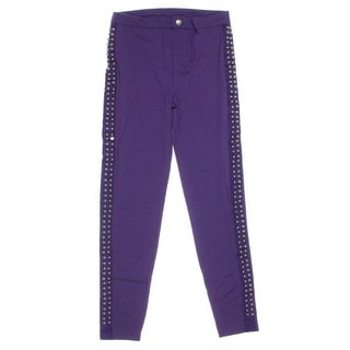 Dream Star Girls Studded Casual Pants - L