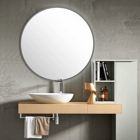 Carson Carrington Salmi Large Aluminum Alloy Round Mirror