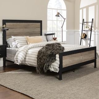 Carbon Loft Santos Rustic Metal Queen Panel Bed