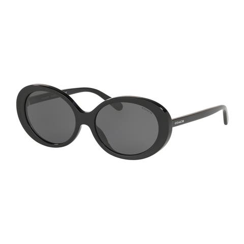 Coach HC8270U 500287 55 Black Woman Oval Sunglasses