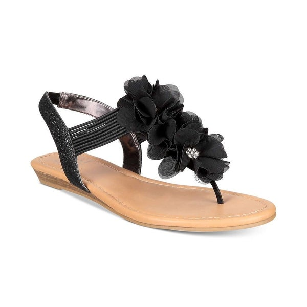 Material Girl Womens Sari Open Toe Casual T-Strap Sandals