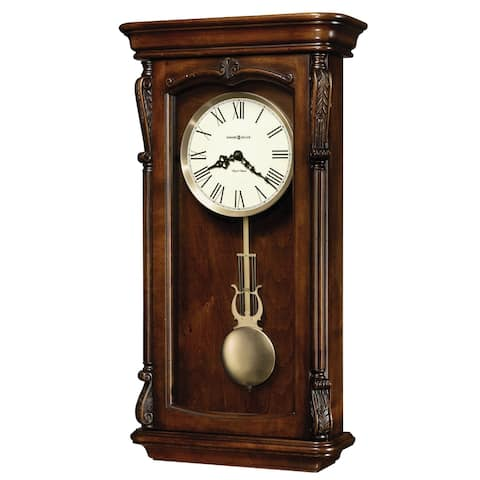 Howard Miller Henderson Brown Grandfather-style Chiming Wall Clock