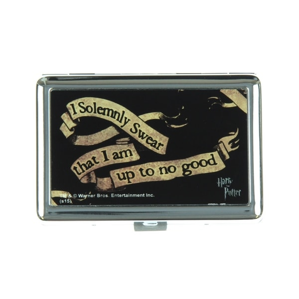 Harry Potter I Solemnly Swear That I Am Up To No Good Business Card Holder - One Size Fits most