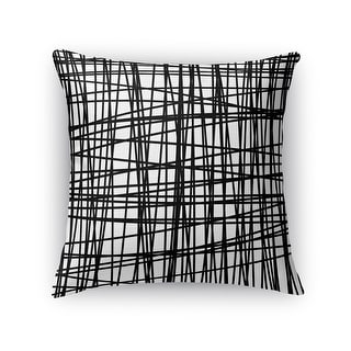 Kavka Designs black lines accent pillow with insert