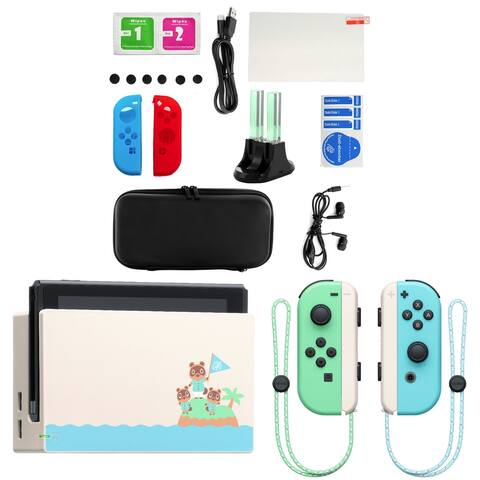 Nintendo Switch Animal Crossing New Horizon Console with Accessories - Teal