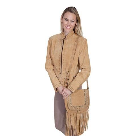 Scully Western Handbag Womens Crossbody 10.75 x 9.5 x 1 Camel - 10.75 x 9.5 x 1